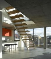 I love cantilevered stairs Cantilevered wooden stair with ...