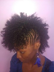 mohawk sew in natural hair styles
