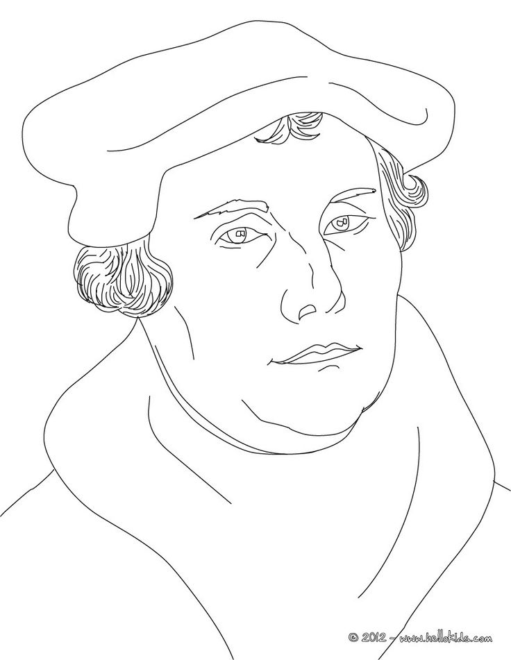 MARTIN LUTHER German Protestant reformer coloring page