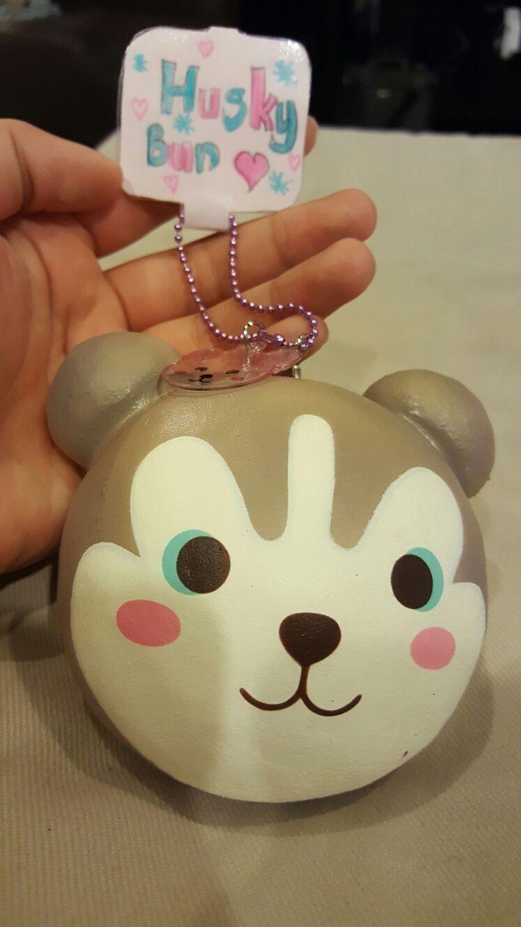 Really cute husky bun with homemade tag  Squishies