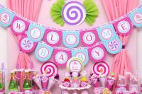 Candyland Baby Shower. See more party ideas at ...