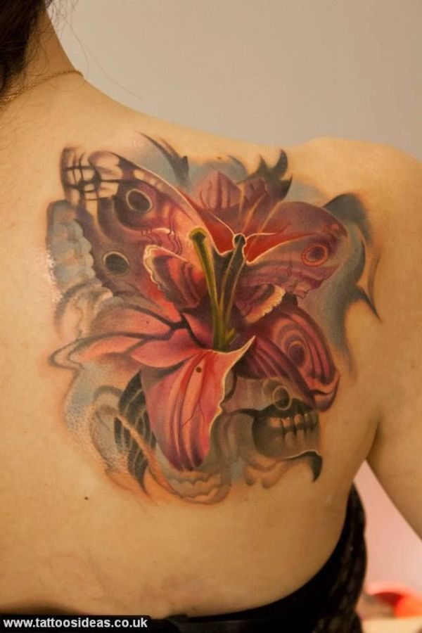 20 Girly Skull Tattoos Shoulder Tattoos With Roses Ideas And Designs