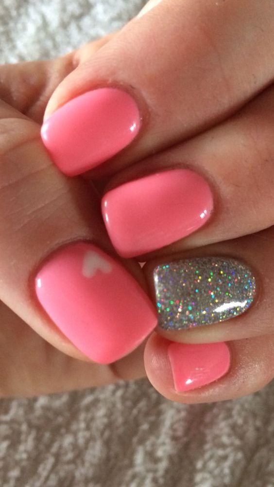 Best 25+ Pink nail designs ideas on Pinterest