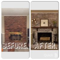 1000+ ideas about Whitewash Brick Fireplaces on Pinterest ...