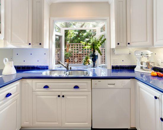 white kitchen cabinets blue countertops white cabinets blue countertops |  Blue Countertop
