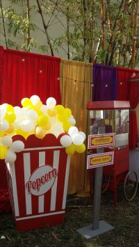 034 Popcorn Box Prop with Balloons- Event Planning: Jackie ...