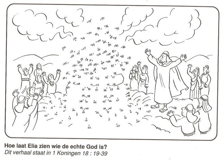 Hoe laat Elia zien wie de echte God is? van stip naar stip
