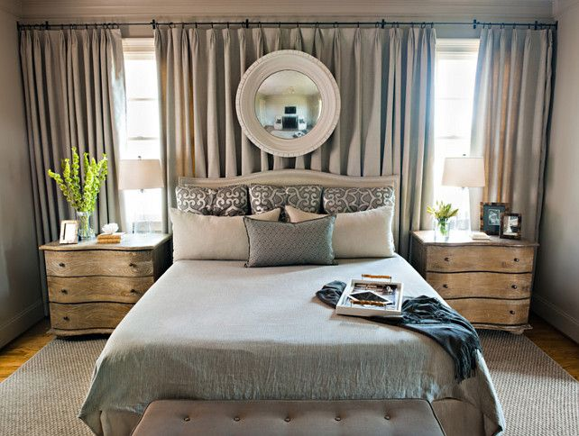 25+ best ideas about Curtains Behind Bed on Pinterest