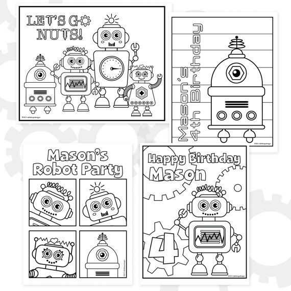 20 best images about Robot Birthday Party Printables on