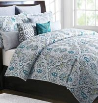 Tahari Home 3pc Full Queen Duvet Cover Set Large Medallion ...