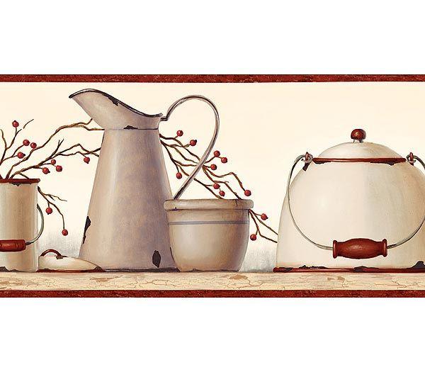 country kitchen wallpaper border