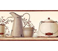 country kitchen wallpaper border | Primitive, Vintage and ...