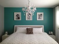 Teal Bedroom Ideas. A simple teal wall really pops in a ...