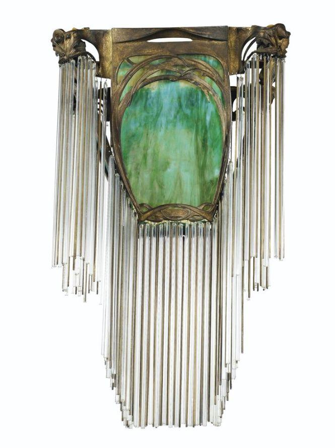 Art Nouveau Hector Guimard 1816 1942 Chandelier Circa 1908