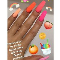 17 Best ideas about Coral Acrylic Nails on Pinterest ...