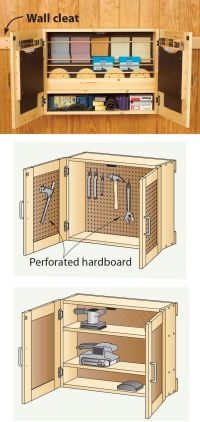 Tool Storage Cabinet Plans - WoodWorking Projects & Plans