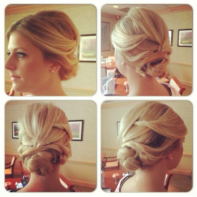 Wedding hair updo  messy updo  romantic hairstyle  hair