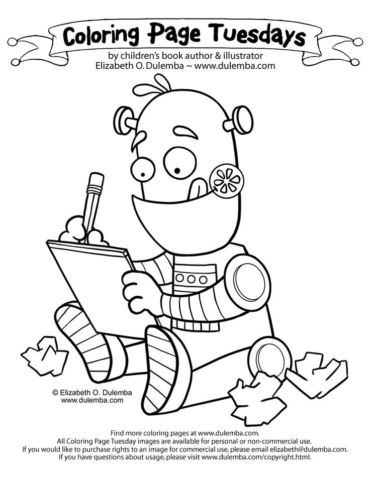 16 best images about Robot Coloring Pages on Pinterest