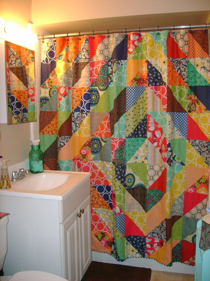 17 Best images about Quilted shower curtain on Pinterest  Triangle quilts Quilt and Postage