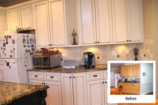 kitchen refacing before and after