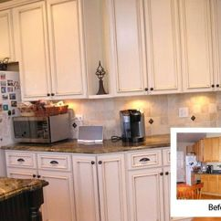 Kitchen Reface Depot Chandelier Lighting Refacing Before And After | White-kitchen-cabinet ...
