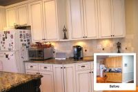 kitchen refacing before and after | White-kitchen-cabinet ...