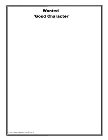 37 best images about Character Worksheets on Pinterest