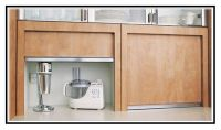 Kitchen appliance cupboard with roller door