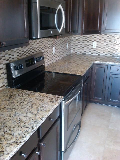 Backsplash option for espresso cabinets  Kitchen Design Ideas  Pinterest  Cook in Too busy