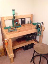 My reloading bench | Reloading bench | Pinterest | Shops ...