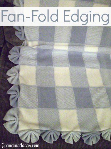 fan edging  Baby blankets Blankets and Fleece blankets