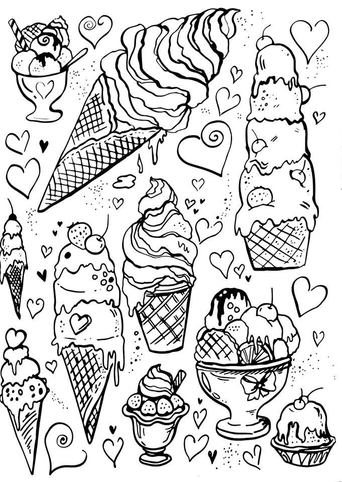 25+ best ideas about Ice cream coloring pages on Pinterest
