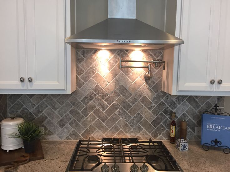 antique white kitchen cabinets farmhouse tables herringbone and silver on pinterest