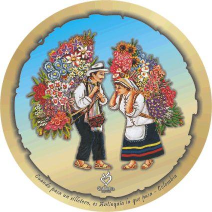 silleteros  Medellin  souvenirs colombia  Pinterest