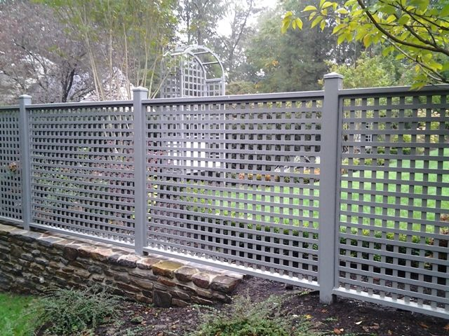 Wrought Iron Lattice Fence  WROUGHT IRON FENCE