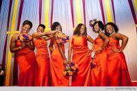 Tangerine bridesmaid dresses. | Orange Burst Wedding ...