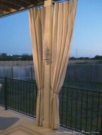 drop cloth out door curtains   Outdoor Spaces   Pinterest ...