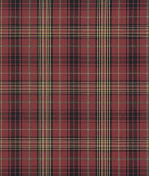 Ralph Lauren Kensington Tartan Burgundy Fabric  512