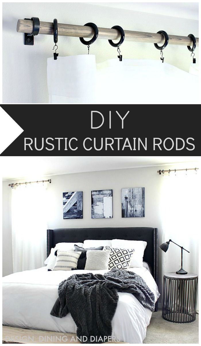 DIY Rustic Curtain Rods  Diy curtain rods Read more and