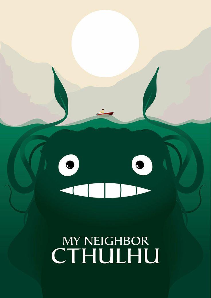 Octopus Wallpaper Cute My Neighbour Cthulhu By Murrills81 Geekery Pinterest