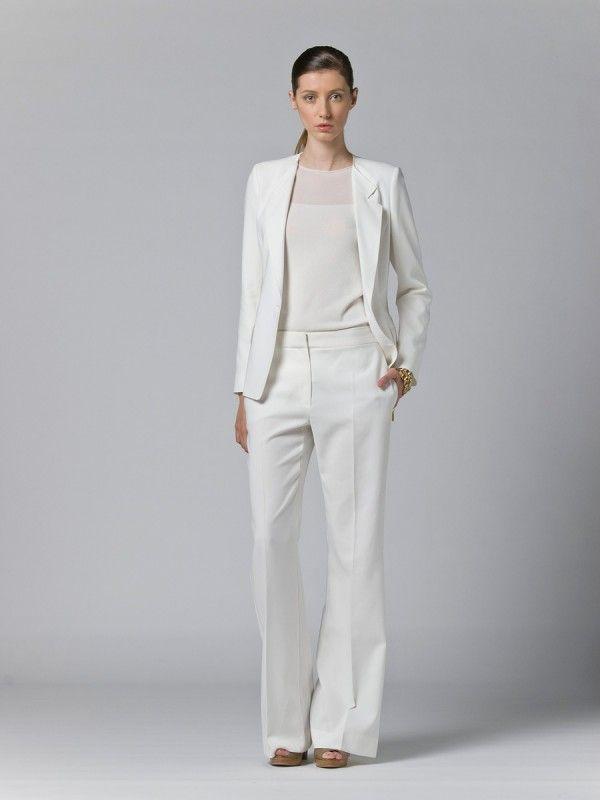men  women in white suit  Pant Suit Women for Wedding
