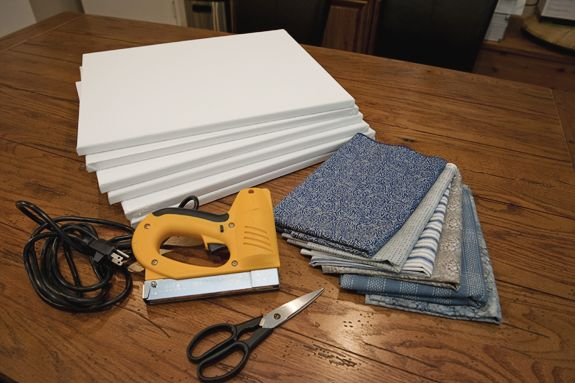 25+ Best Ideas About Fabric Covered Canvas On Pinterest