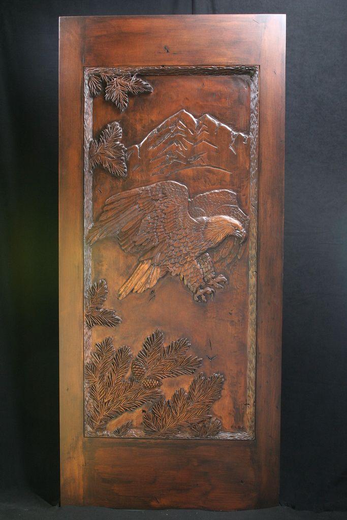 Eagle Carved Wood Door Ahşap Oyma Pinterest Doors