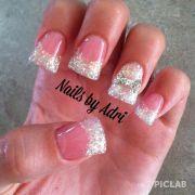 sparkley bow acrylic nails cute