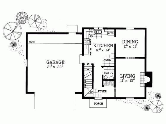 colonial house plan 1400 sq ft  Burkland Living Room Etc  Pinterest  House plans Cape cod