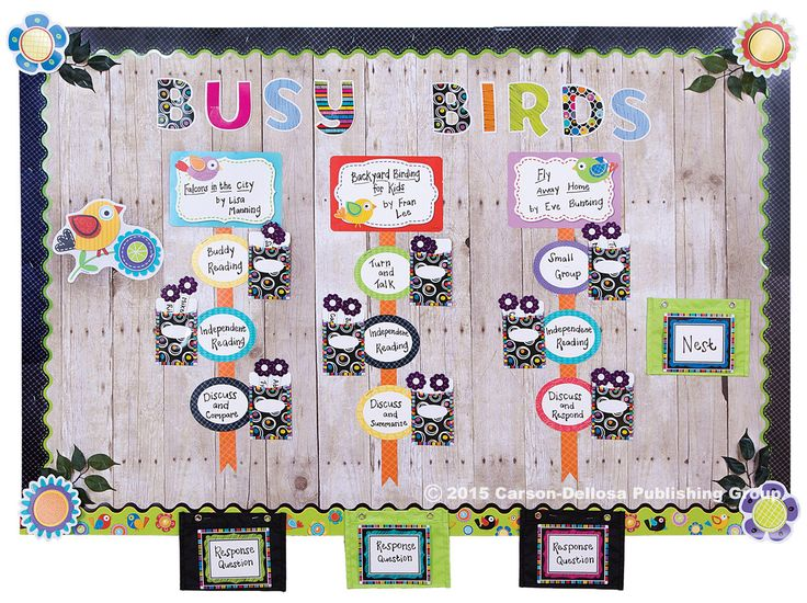 Boho Birds and Colorful Chalkboard designed by Kleinspiration blogger Erin Klein for the 2015 Carson-Dellosa Lookbook!