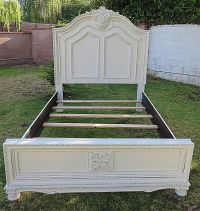 SHABBY CHIC/FRENCH PROVINCIAL QUEEN BED FRAME COTTAGE ...
