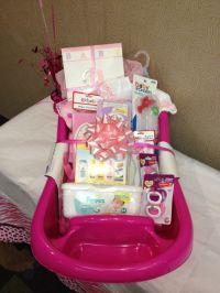 Baby shower gift basket idea !!!! | Baby girl gift idea ...