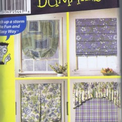 Kitchen Valance Patterns Images Of Outdoor Kitchens Sewing Pattern 9986 Simplicity Wrights Curtain Roman Shade ...