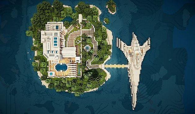 Virage Modern Island House Map
